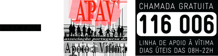 Imagem da APAV de parceria - com número de apoio à vitima